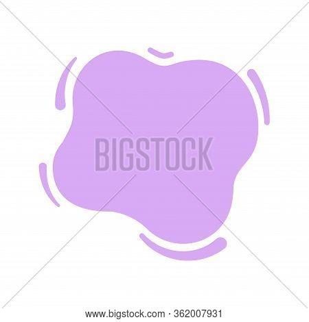 Blob Shape Purple Soft For Banner Copy Space, Aqua Background, Blob Splash Purple Pastel Color, Wate