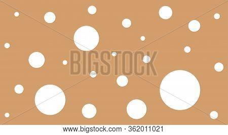 White Polka Dot On Brown Pastel Soft For Background, Polka Dot White Pattern Cute, Random Scattered