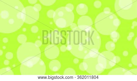 Abstract Green Bright Bokeh For Background, Bubble Bokeh Glowing Circle Soft For Wallpaper, Illustra
