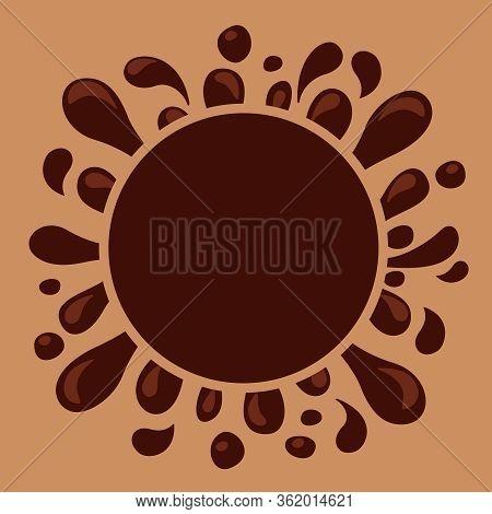Chocolate Brown Splash Blob For Banner Background, Drop Brown Liquid Splash, Icon Splashing Chocolat