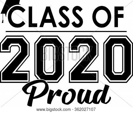 Class Of 2020 Proud Black And White Banner