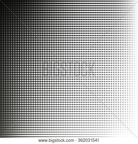 Fine Grid. Figure From Intersecting Vertical And Horizontal Lines. Black And White Abstract Backgrou