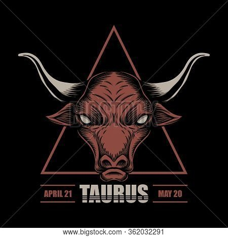 Taurus Zodiac Vector Illustration For Your Company Or Brand