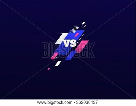 Versus Logo Vs Letters For Sports And Fight Competition. Battle, Vs Match, Game Concept Competitive