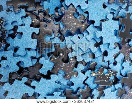 Lots Of Pieces Of An Incomplete Puzzle Jigsaw