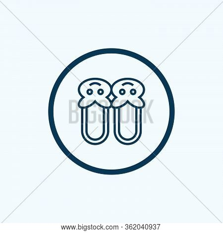 House Slipper Vector Icon.outline Vector Icon Isolated On White Background House Slipper.