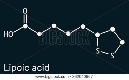 Lipoic Acid, La, Ala, Alpha Lipoic, Thioctic Acid, Lipoate Molecule. It Is Organosulfur Compound, Vi