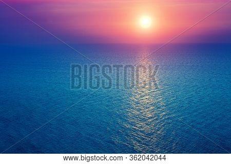 Sunrise Over Sea. Sunrise Over The Sea And Beautiful Cloudscape.