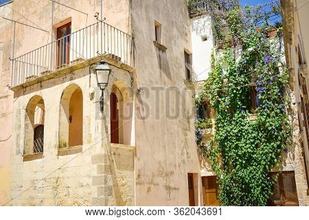 Otranto Street View In A Beautiful Sunny Day, Puglia, Southern Italy. Europe.