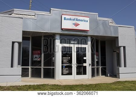 Indianapolis - Circa April 2020: Bank Of America Bank And Loan Branch. Bank Of America Is Also Known