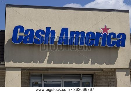 Indianapolis - Circa April 2020: Cash America Pawn Shop. Cash America Operates Pawnbroker And Payday