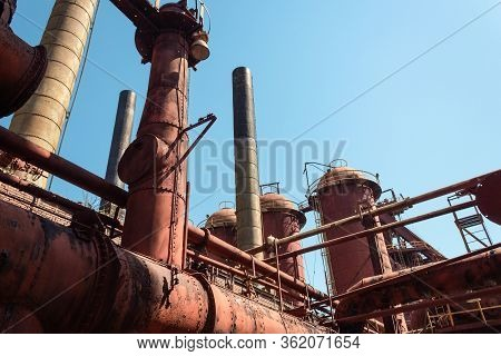 Sloss Furnaces National Historic Landmark, Birmingham Alabama Usa, Steel Pig Iron Manufacturing Comp