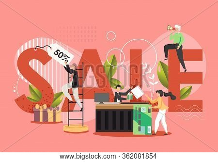 Sale Concept Vector Flat Style Design Illustration