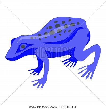 Blue Exotic Frog Icon. Isometric Of Blue Exotic Frog Vector Icon For Web Design Isolated On White Ba