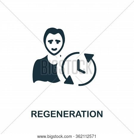 Regeneration Icon. Simple Illustration From Biohacking Collection. Creative Regeneration Icon For We