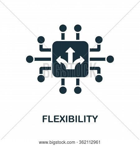 Flexibility Icon From Digitalization Collection. Simple Line Flexibility Icon For Templates, Web Des