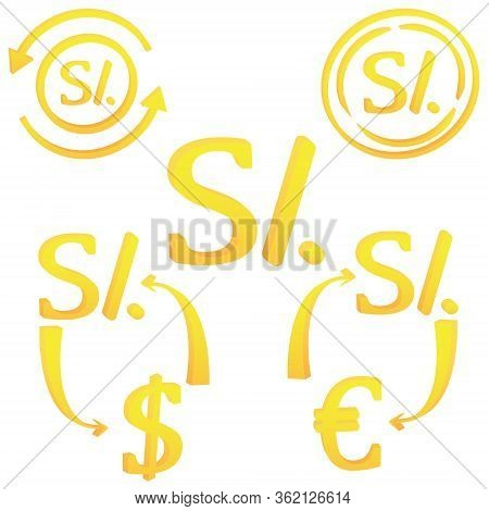 3d Peruvian Nuevos Sol Currency Symbol Icon Of Peru Vector Illustration On A White Background