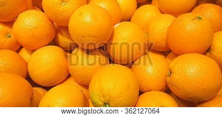 A Bunch Of Oranges. Counter With Oranges. Orange Paradise.