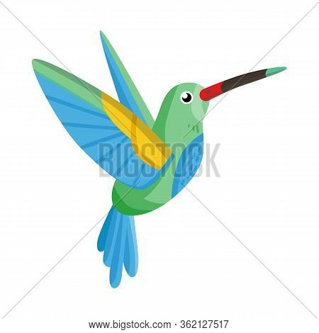 Vector Illustration Of Hummingbird And Bird Icon. Set Of Hummingbird And Flying Stock Symbol For Web