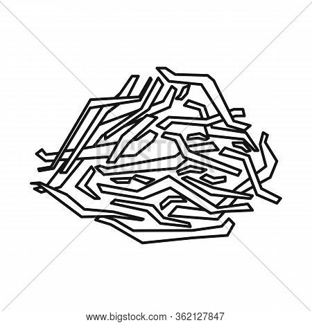 Vector Illustration Of Waste And Material Symbol. Web Element Of Waste And Sugarcane Stock Vector Il
