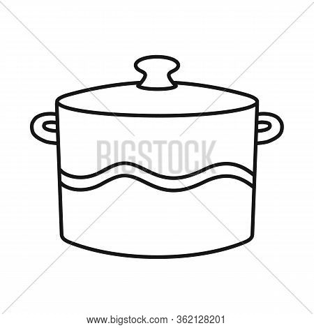 Vector Illustration Of Crockery And Clean Symbol. Web Element Of Crockery And Ceramic Stock Vector I