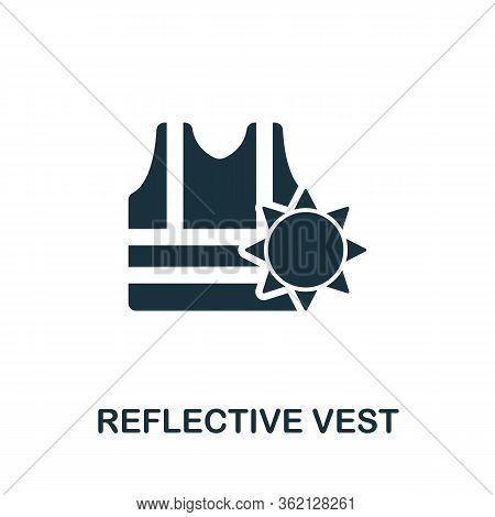 Reflective Vest Icon. Simple Illustration From Personal Protection Collection. Creative Reflective V