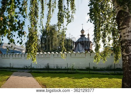 Walls And Churches Holy Trinity Convent On A Summer Evening In Murom, Russia