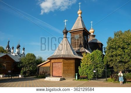 Murom, Russia - August 24, 2019:  Church Of St. Sergius Of Radonezh At Holy Trinity Convent In The C