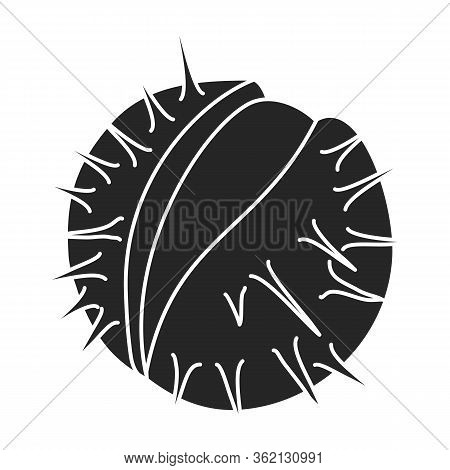 Chestnut Vector Icon.black Vector Icon Isolated On White Background Chestnut.