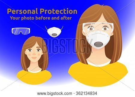 Elements For Digital Photo Montage. Personal Virus Protective Medical Equipment Including Respirator