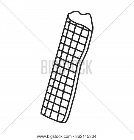 Wafer Roll Vector Icon.outline Vector Icon Isolated On White Background Wafer Roll.