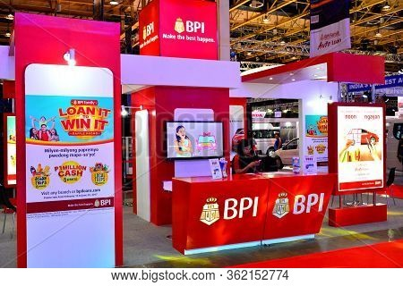 Pasay, Ph - Apr 1- Bank Of The Philippine Islands (bpi) Booth At Manila International Auto Show On A