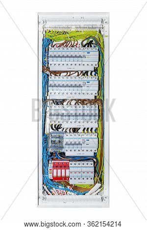 3 position fuse box modern fuse box used image   photo  free trial  bigstock  modern fuse box used image   photo