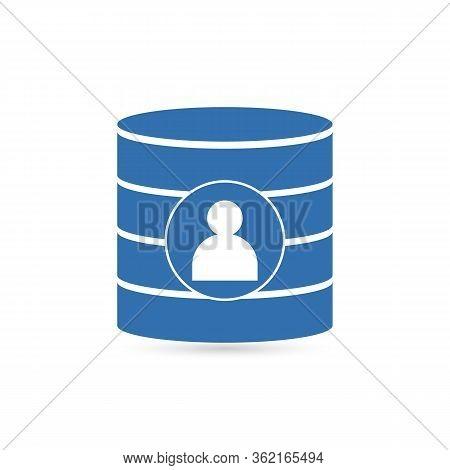 Database Icon, Database Icon Vector, In Trendy Flat Style Isolated On White Background. Database Ico