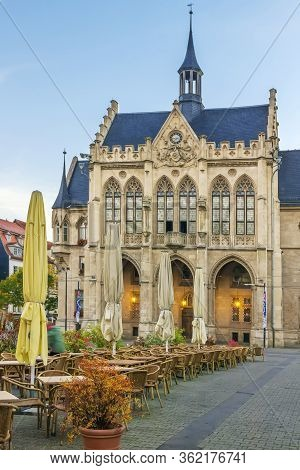 The Neo-gothic Town Hall At The Fischmarkt Square Was Built Between 1870 And 1874, Erfurt, Germany