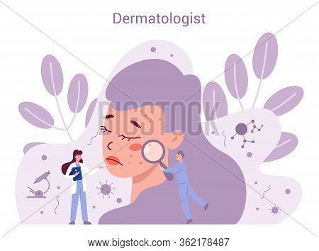 Dermatologist Concept. Dermatology Specialist, Face Skin Treatment