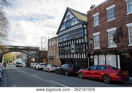 Chester, Uk: Mar 1, 2020: The Bear And Billet Is A Traditional Englsih Inn Which Dates Back To 1664.