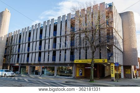 Chester, Uk: Mar 1, 2020: The Pepper Street Car Park Is Located In A Multi Storey Building Operated