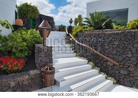 Lanzarote, Spain - May 15, 2016: A Part Of Cesar Menrique Foundation Museum, Lanzarote Island