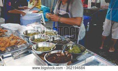 Lampang,thailand - November 24, 2019 Kad Kong Ta Walking Street, Landmark Famous Evening Night Marke