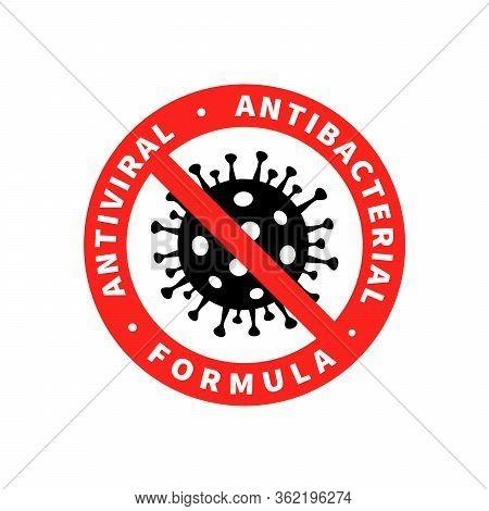 Antiviral Antibacterial Coronavirus Formula Vector Icon. Coronavirus 2019-ncov, Covid-19 Ncp Virus S