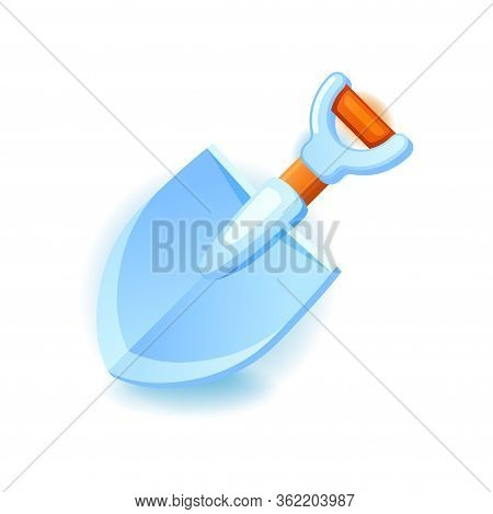 Shovel Icon For Web And Mobile Games. Garden Shovel Vector Illustration Isolated On White Background