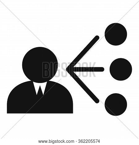 Unemployed Man Choose Job Icon. Simple Illustration Of Unemployed Man Choose Job Vector Icon For Web