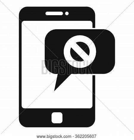 Phone Unemployed Sms Icon. Simple Illustration Of Phone Unemployed Sms Vector Icon For Web Design Is