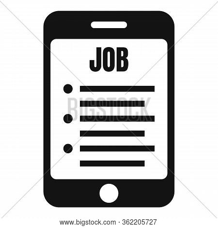 Smartphone Job Propose Icon. Simple Illustration Of Smartphone Job Propose Vector Icon For Web Desig