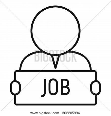 Give Me Job Icon. Outline Give Me Job Vector Icon For Web Design Isolated On White Background