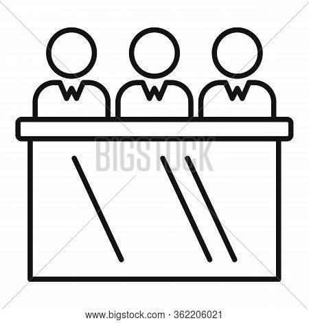 Job Commission Expert Icon. Outline Job Commission Expert Vector Icon For Web Design Isolated On Whi