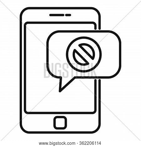 Phone Unemployed Sms Icon. Outline Phone Unemployed Sms Vector Icon For Web Design Isolated On White