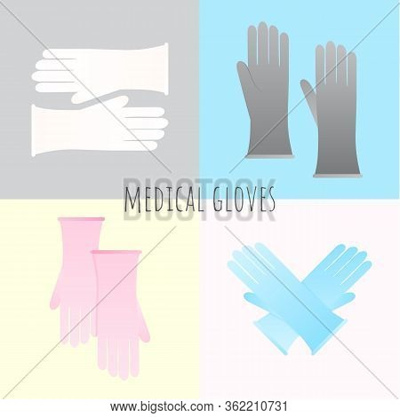 Protective Gloves Vector Icon Isolated On Background. Protective Gloves Icon For Infographic, Websit