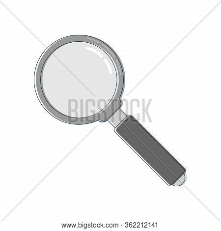 Line Art With Magnifying Glass Line. Search Icon. Zoom Symbol. Magnifying Glass Symbol. Find Icon. F